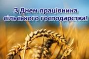 Привітання від директора з Днем працівника сільського господарства!
